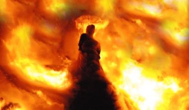 Hexe-im-Feuer1 in Hexen, Folter, Scheiterhaufen